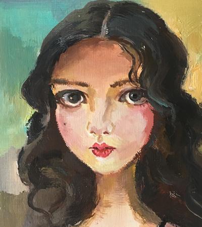 一組手繪人物丙烯畫作品分享