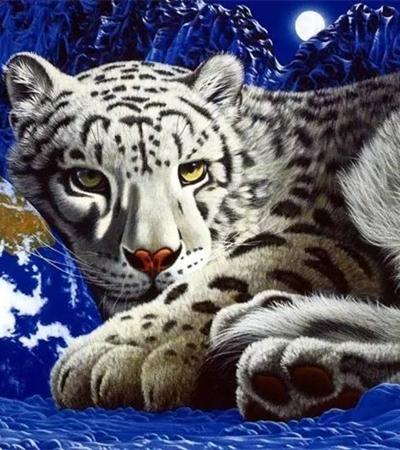 好看逼真的動物丙烯畫作品欣賞