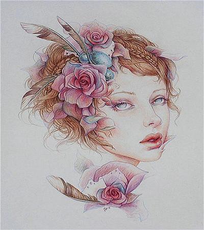 艺术家珍妮弗彩铅画欣赏