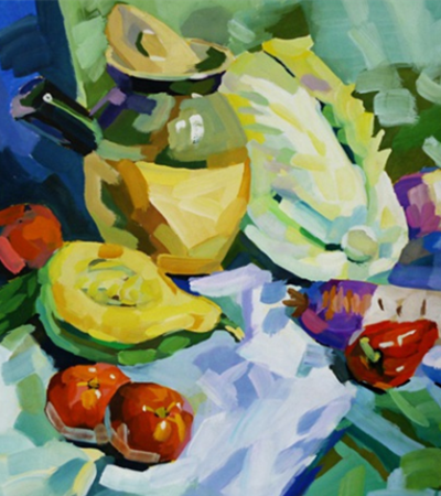 水果蔬菜水粉静物临摹图片素材