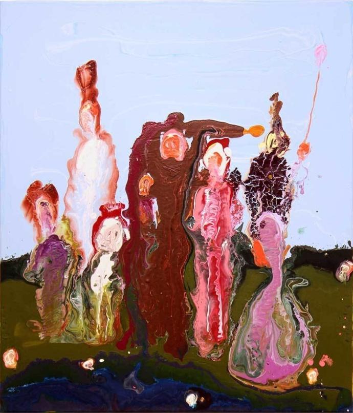 愛爾蘭藝術家Geneva Figgis抽象丙烯畫作品欣賞