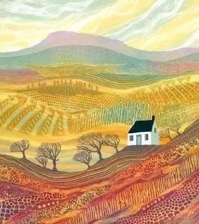 优秀的乡村风景版画作品欣赏