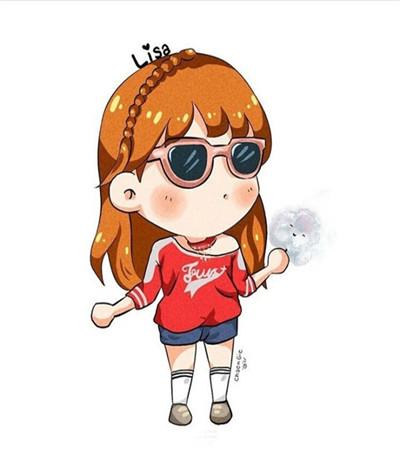 韓國插畫師超萌小女孩簡筆畫作品賞析