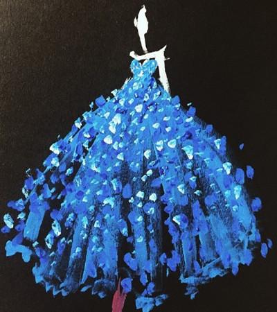 水粉画:美国画家Katie Rodgers的水粉礼服手绘作品欣赏
