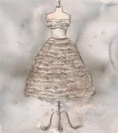 水粉畫:Lauren Maurer的水粉畫婚紗設計作品欣賞
