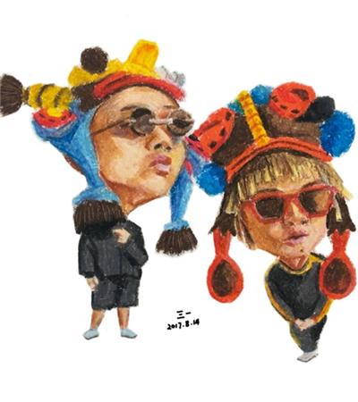 中国有嘻哈选手漫画作品欣赏