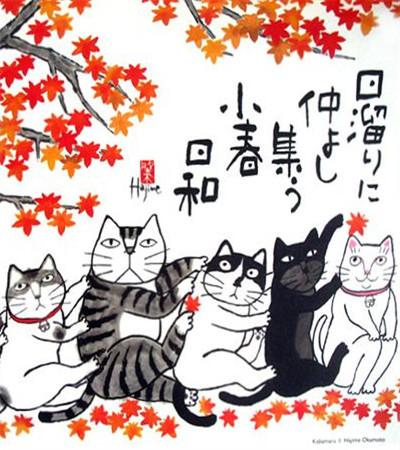 一組簡筆畫貓咪作品欣賞