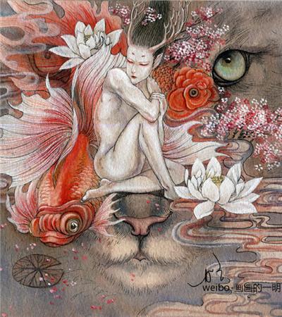 一组奇幻色彩手绘水彩画作品欣赏
