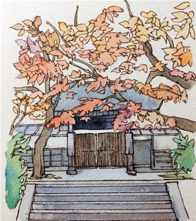 一组水彩手绘建筑作品欣赏