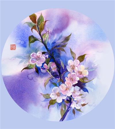 一组水彩画花卉作品欣赏
