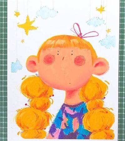 兒童畫可愛的小女孩作品欣賞