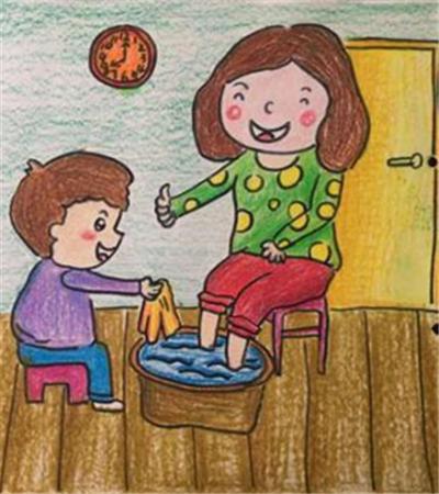 三八節愛媽媽兒童畫作品欣賞