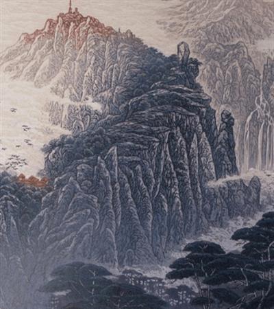 山水版画图片欣赏