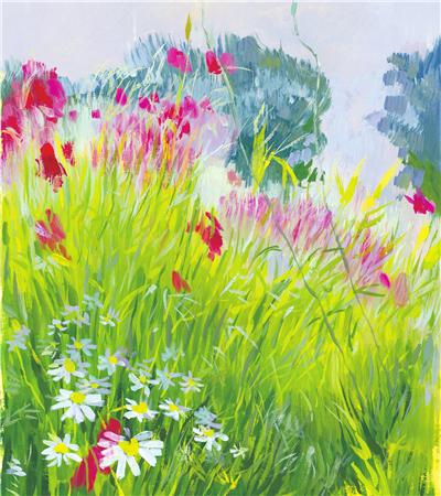 春天来了手绘画_水粉画教程分享花卉教程,风景绘画过程,水粉画有哪些基础 ...