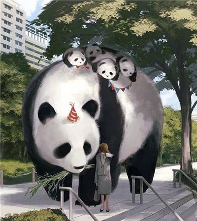 一组动物主题插画作品欣赏