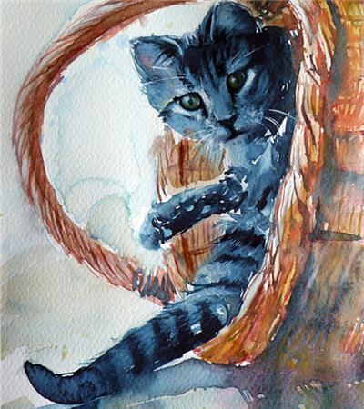 一组色彩丰富的动物水彩画作品欣赏
