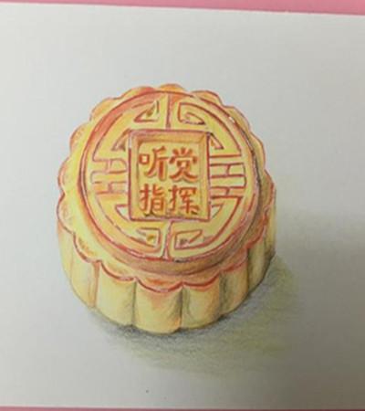 月饼的画法过程_逼真的与简单的彩铅画绘画过程,百合花彩铅画怎么画-露西学画画