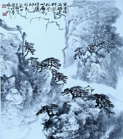 楊小仟國畫作品欣賞