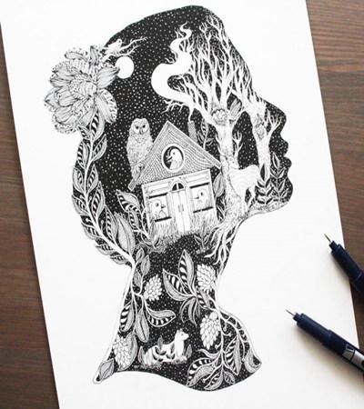针管笔绘画作品欣赏