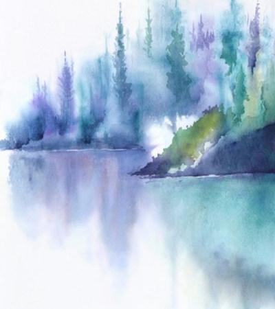 水彩风景画临摹图片