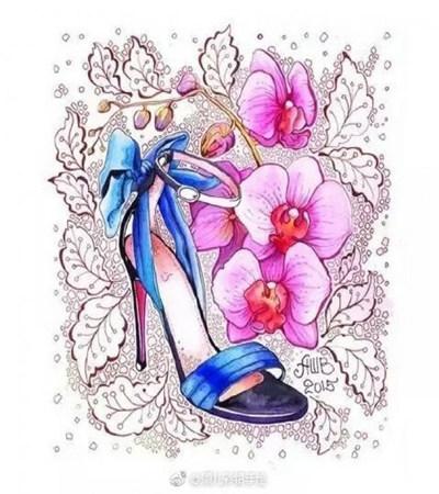 高跟鞋插画作品欣赏