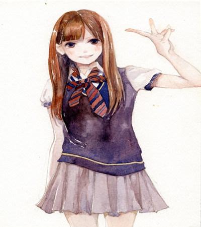 日系少女插画作品欣赏