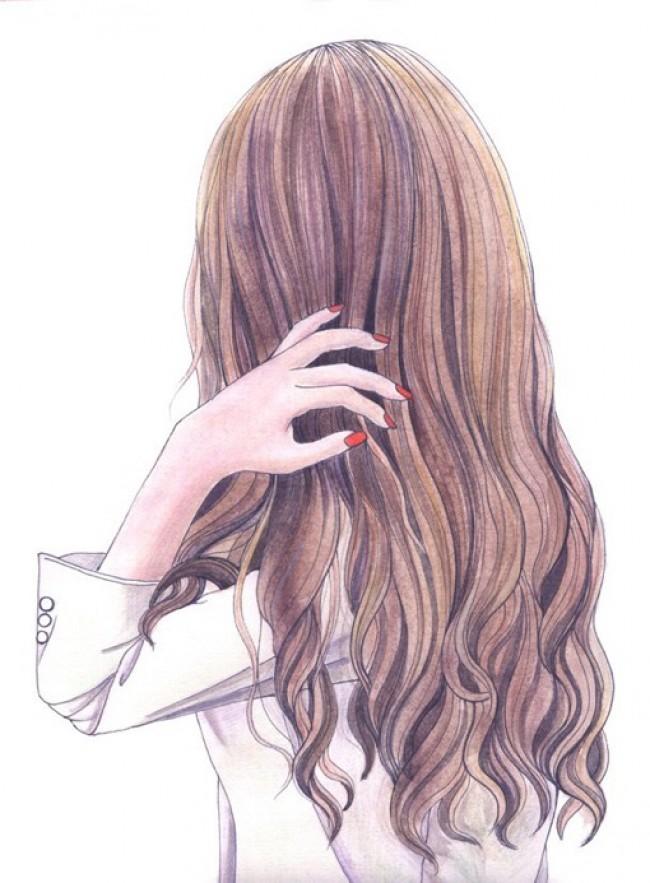 女生发型插画作品欣赏
