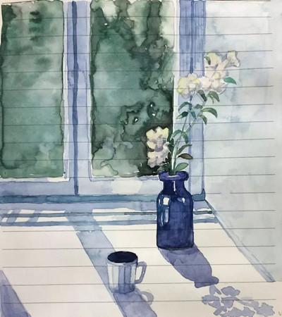 水彩画:美到让人窒息的夏日小清新