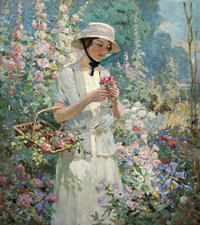 油画欣赏:一组来自19世纪的花园风景画