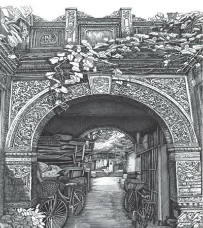鋼筆畫作品:邊走邊畫,帶支鋼筆去旅行吧!