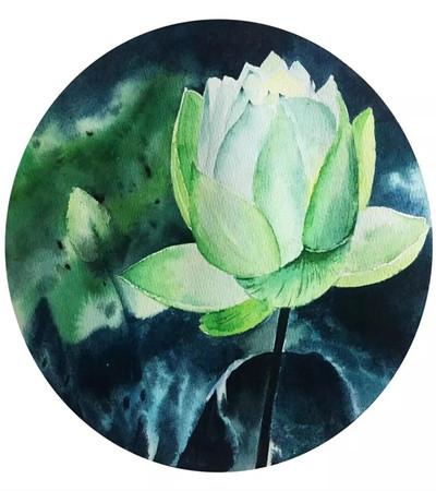 水彩花卉作品欣赏:生当如夏花