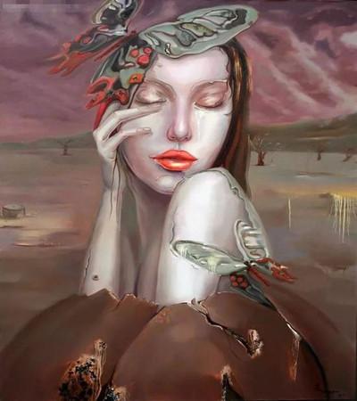 陈芸油画作品欣赏:美到地老天荒的面孔下