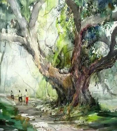 看了Phang Chew這組水彩畫作品,突然有種想家的沖動!
