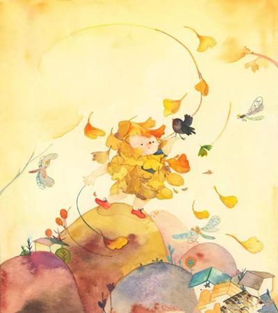 一组关于秋天的插画作品,让你从此恋上这个季节!