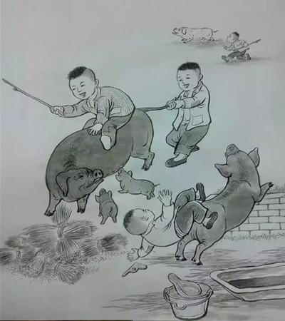 猪的插画作品欣赏:关于猪的故事