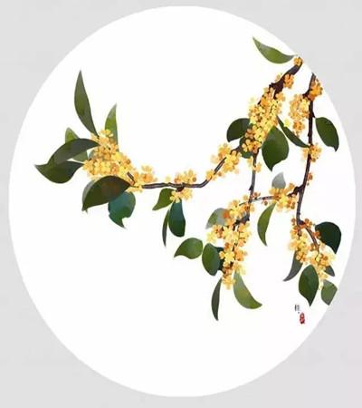 彩铅画作品欣赏:好看的中国风花朵图片