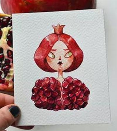 插画作品欣赏:一组有意义的水果拟人画
