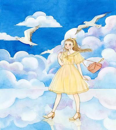 优秀插画作品欣赏:一组好看的童话世界画