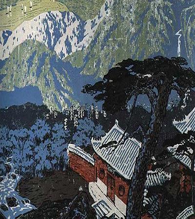 版画作品欣赏:《黄河十景》风景版画