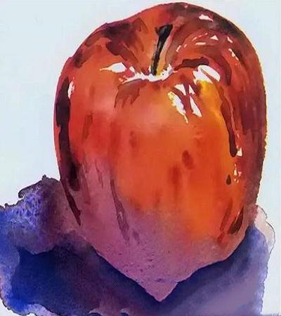 水粉画教程:如何画苹果?