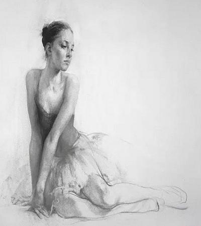 素描作品欣赏:俄罗斯画家尼古拉布洛欣作品