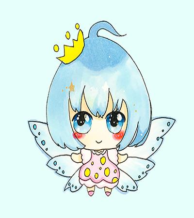 简笔画教程:带翅膀的精灵公主