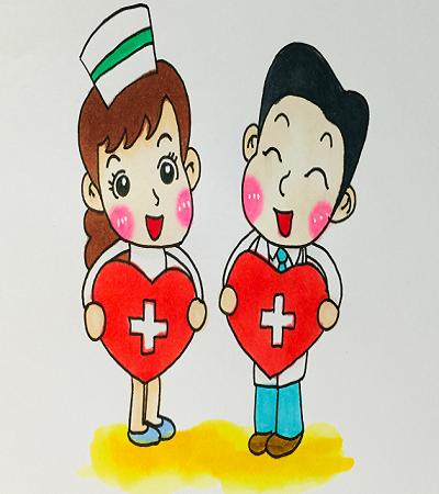 简笔画教程:医生和护士如何画?