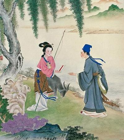 蔡云國畫人物繪畫作品欣賞