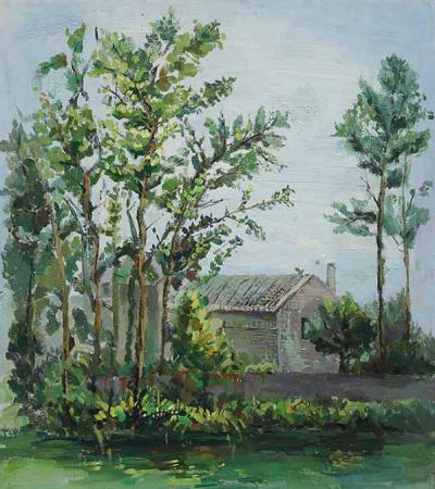 一组乡村风景油画作品欣赏