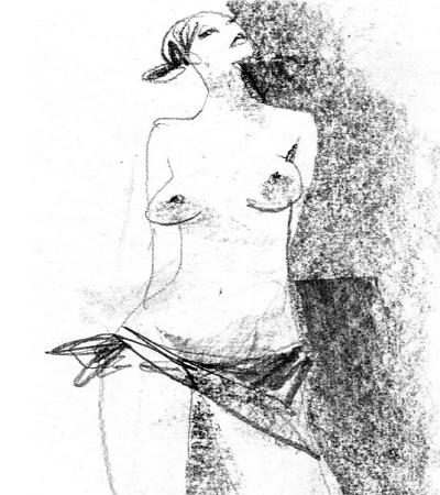充满艺术的抽象人体素描作品欣赏