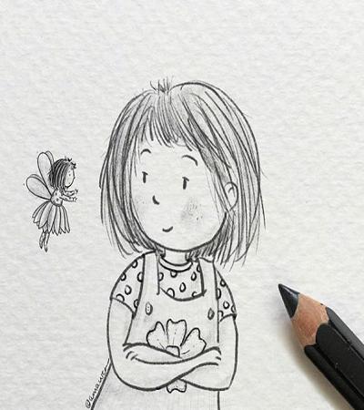 一组可爱小孩儿童画作品欣赏
