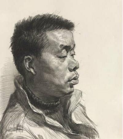 安徽传奇艺术学校人物头像素描作品欣赏