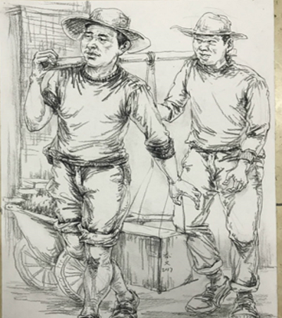 广州艺考教育学校速写人物作品