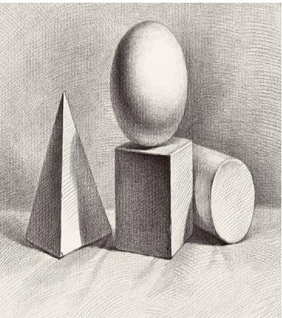 石膏几何体素描作品欣赏,告诉你怎么画素描!